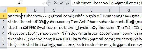 lưu database email vào excel - Hoài Văn
