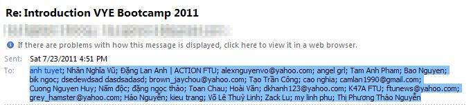 Lấy email database từ email nhận được - Hoài Văn