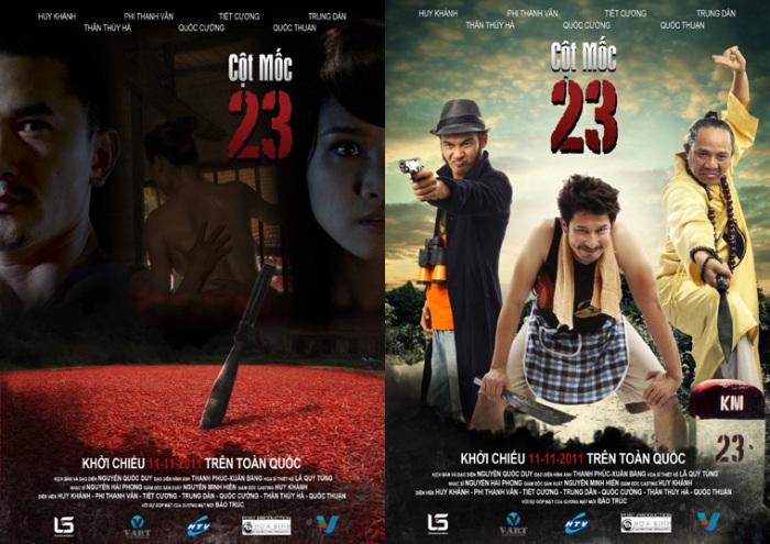 """2 poster - 2 phong cách của """"Cột Mốc 23"""""""