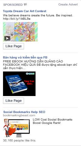 Mình hay thấy và click vào xem những QC thế này trên Facebook. Bạn có thấy chúng rất khác so với những QC bạn hay gặp không?